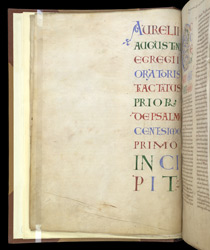 Display Capitals, In St. Augustine's Commentary On Psalm 51-101